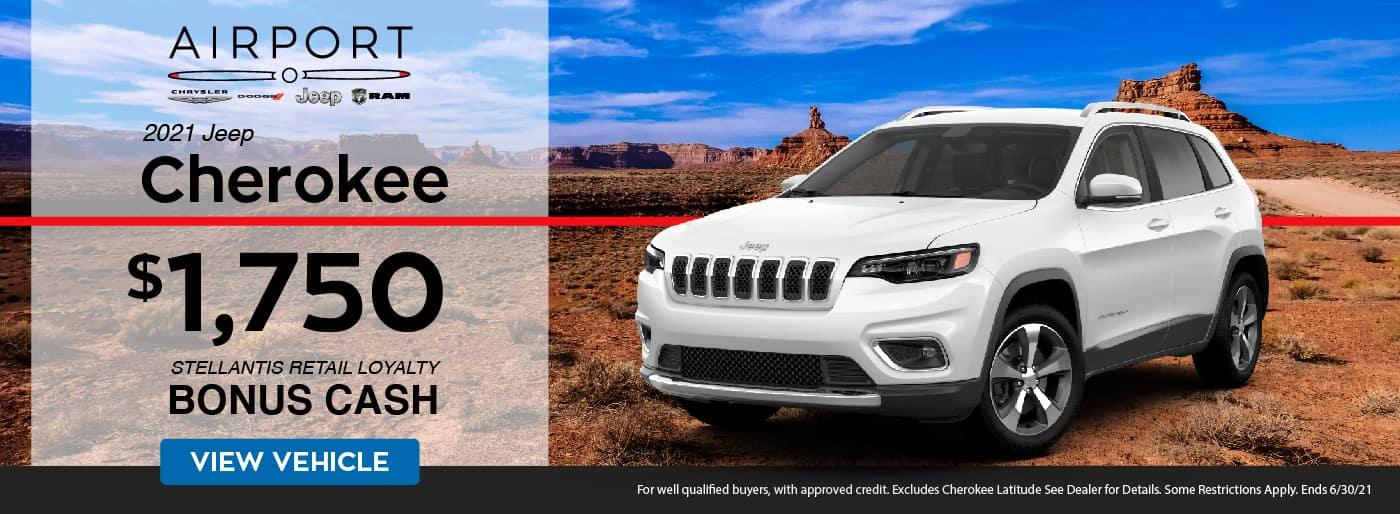 June 2021 Jeep Cherokee Promotion