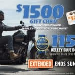 $1500 Gift Card on Pre-Owned or 115% Kelley Blue Book Value on Trade