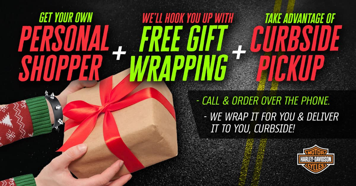 Personal Shopper, Free Gift Wrapping, and Curbside Pickup