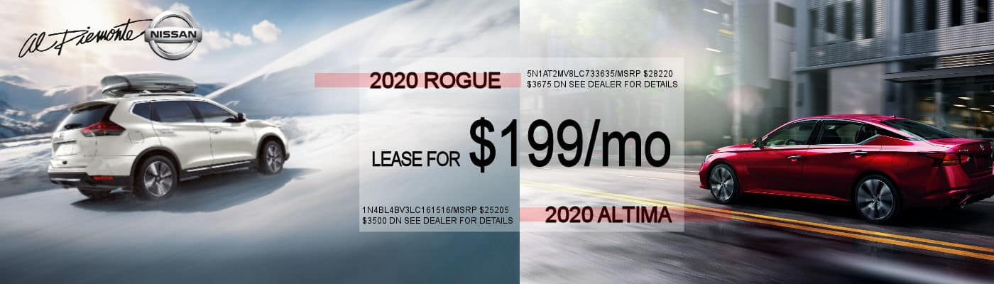 2020 Rogue and Altima