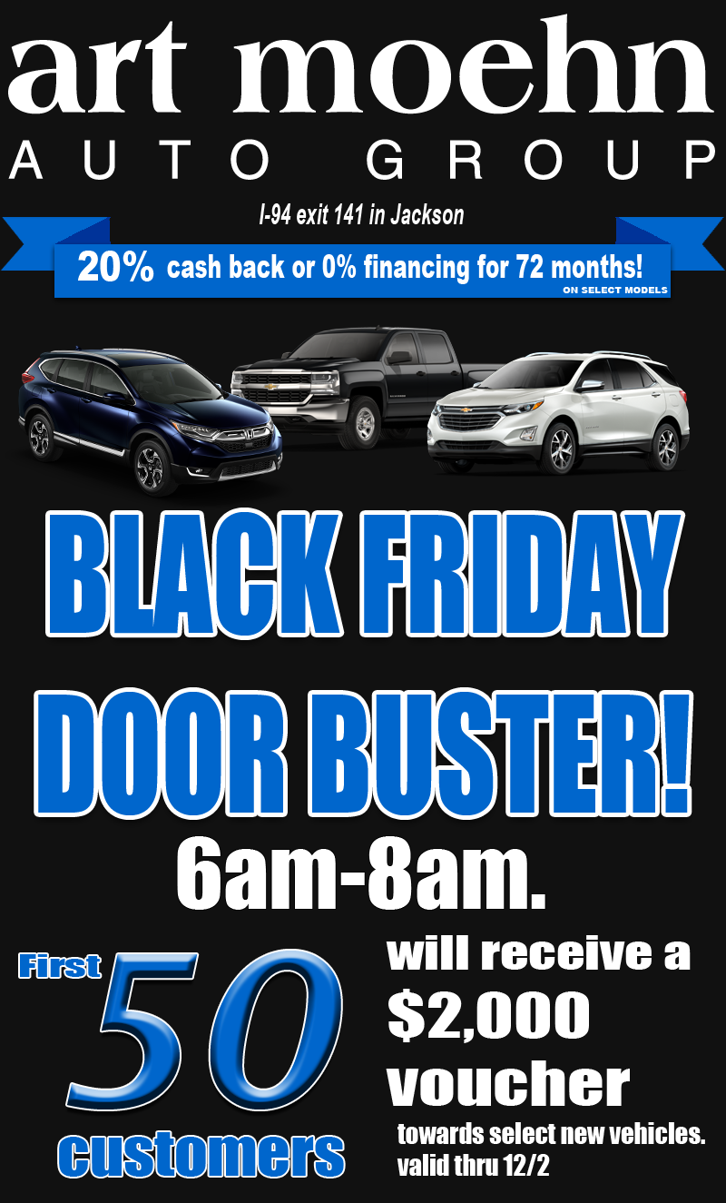 Black Friday Doorbuster for $2000 voucher from 6-8 am