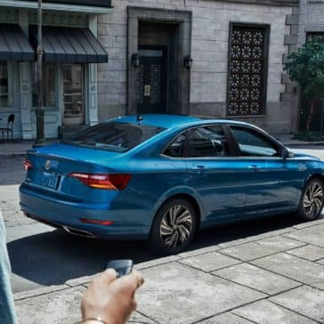 2019-Volkswagen-Jetta-SEL-Premium-in-silk-blue-metallic-parked