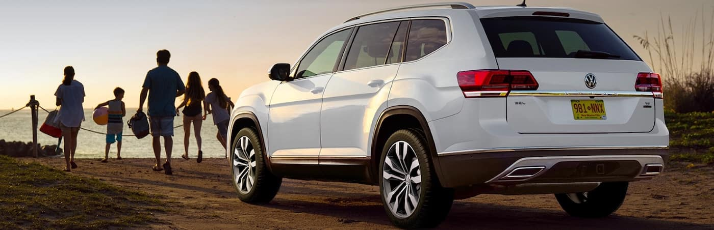 Volkswagen Atlas at Beach with Family