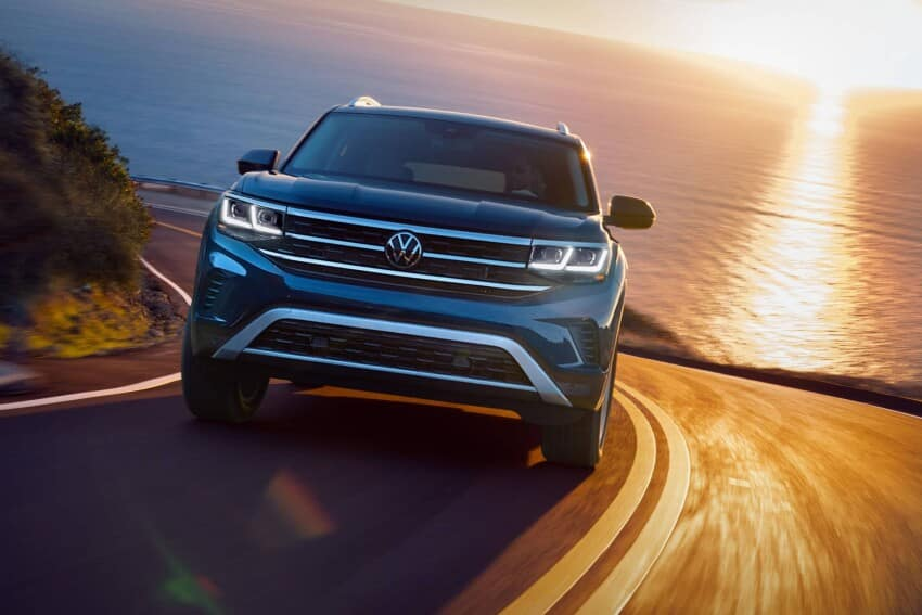 2021 VW Atlas with Sunset
