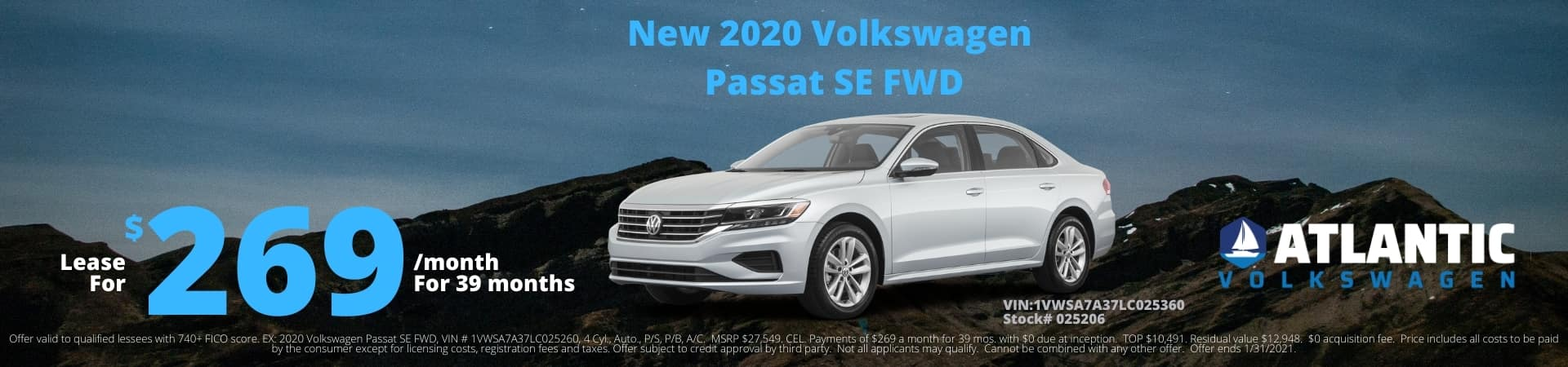 2020-12 Atlantic VW 2020 VW Passat SE FWD 1920×450