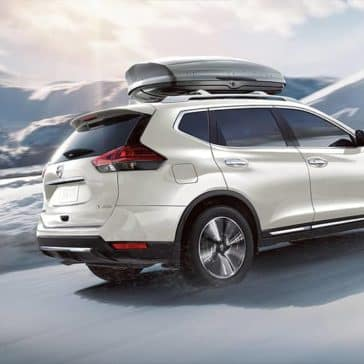 White 2020 Nissan Rogue with Roof Storage