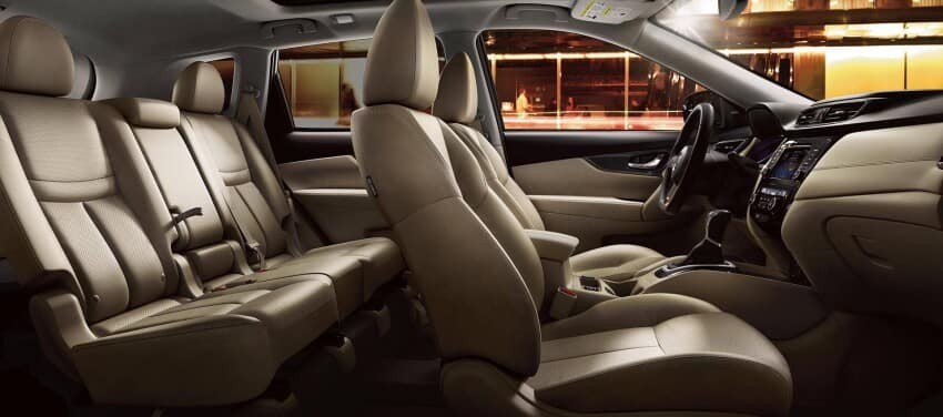 2020 Nissan Rogue Interior Cross Section