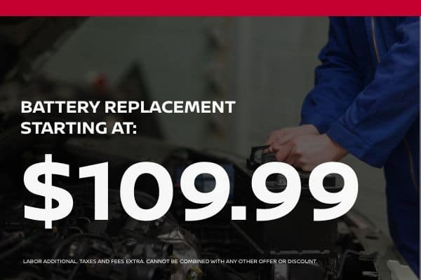 Battery Replacement Special starting at $109.99