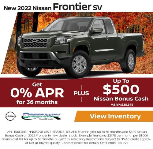 New 2022 Nissan Frontier