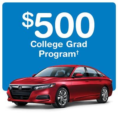 $500 Honda College Graduate Bonus