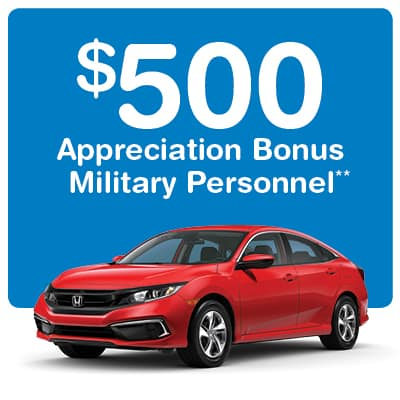 $500 Honda Military Appreciation Offer