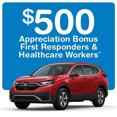 $500 First Responders & Healthcare Appreciation