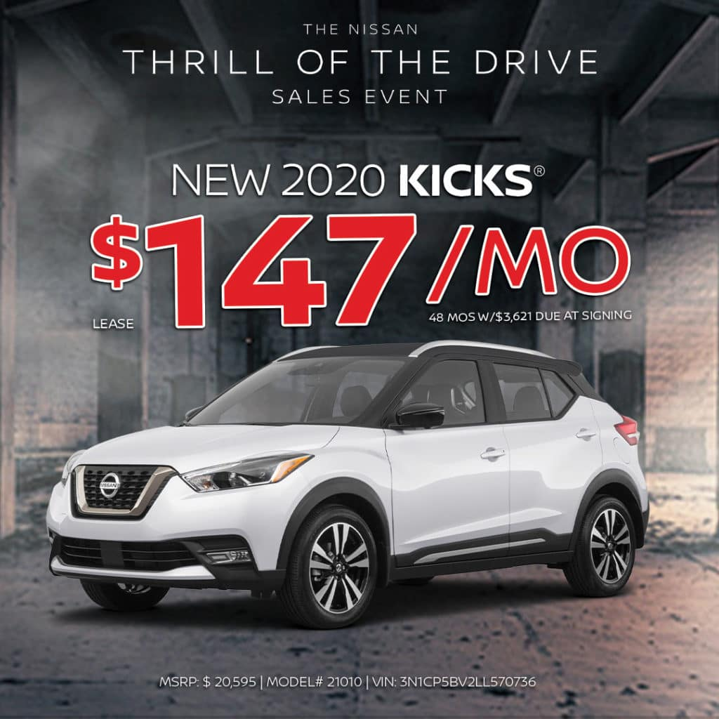 New 2020 Nissan Kicks Lease
