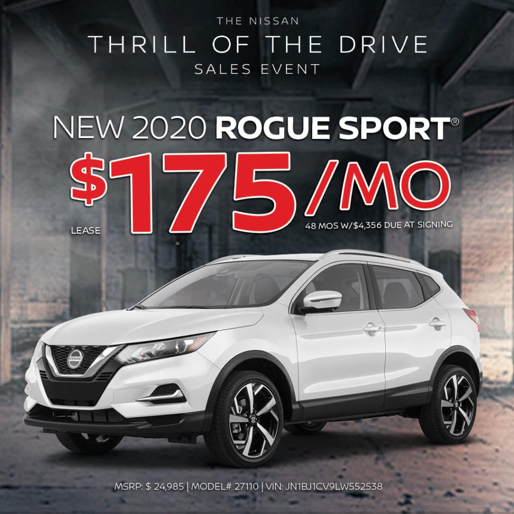 New 2020 Nissan Rogue Sport Lease