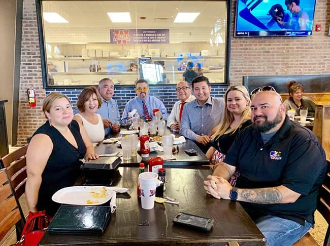 Community and Events - employee-Farewell Lunch for Intern Luis Amaro