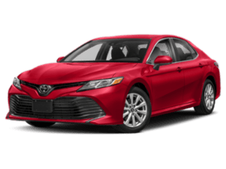 Angled view of the Toyota Camry