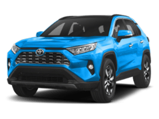 Angled view of the Toyota Rav4