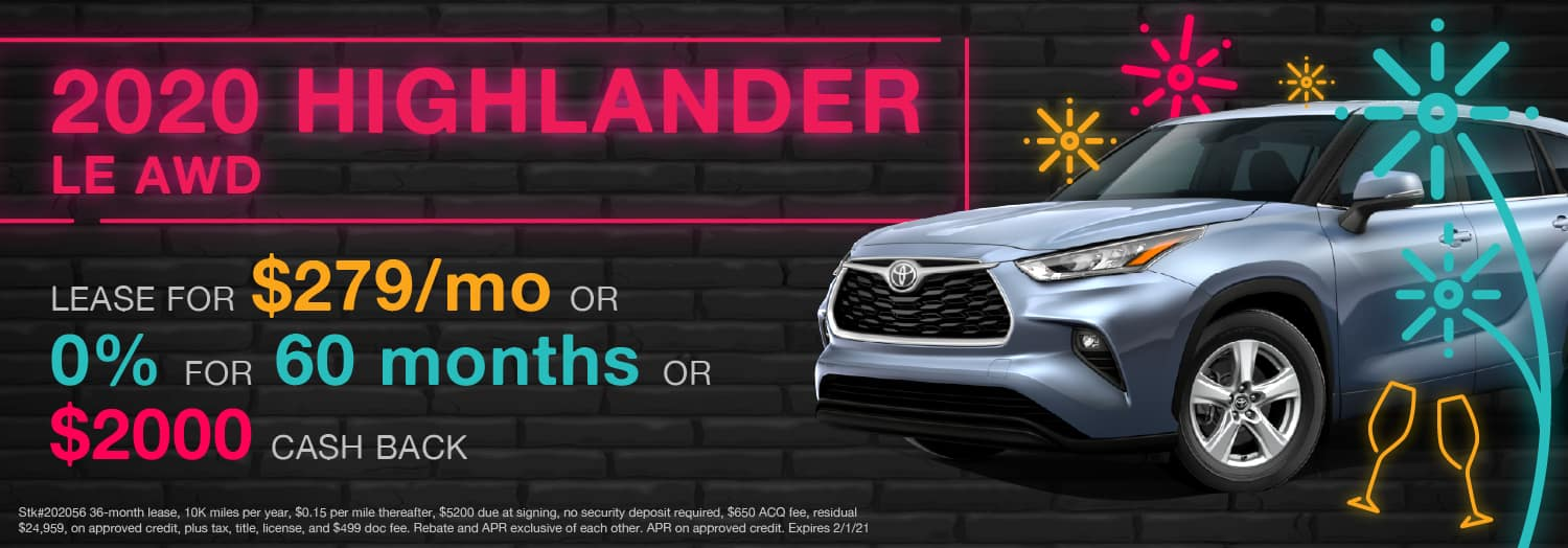 2020 Highlander LE AWD - Berge's Riverview Toyota