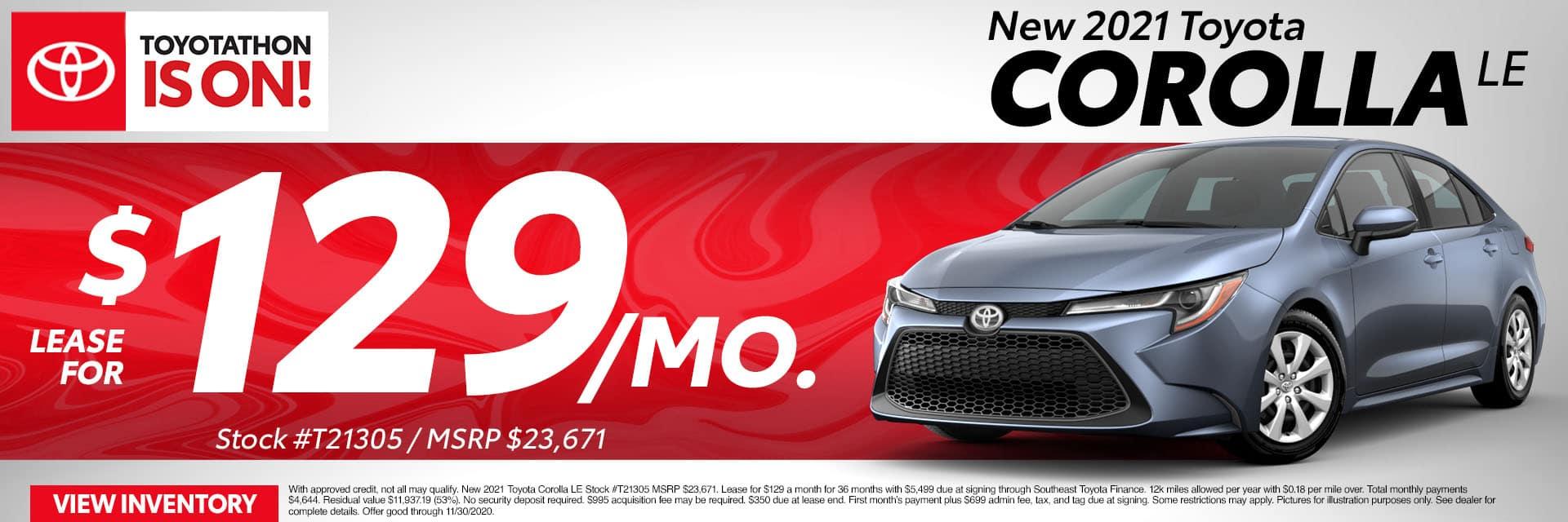 CLTW-November 2020-2021 Toyota Corolla