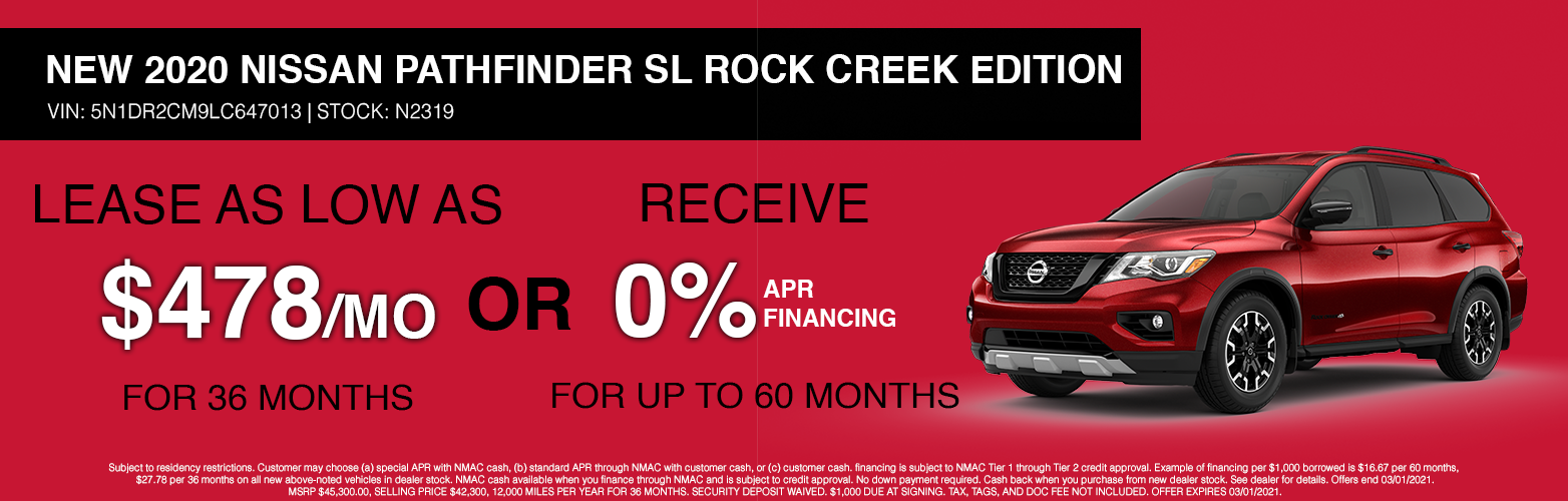 PATHFINDER LEASE AND 0%