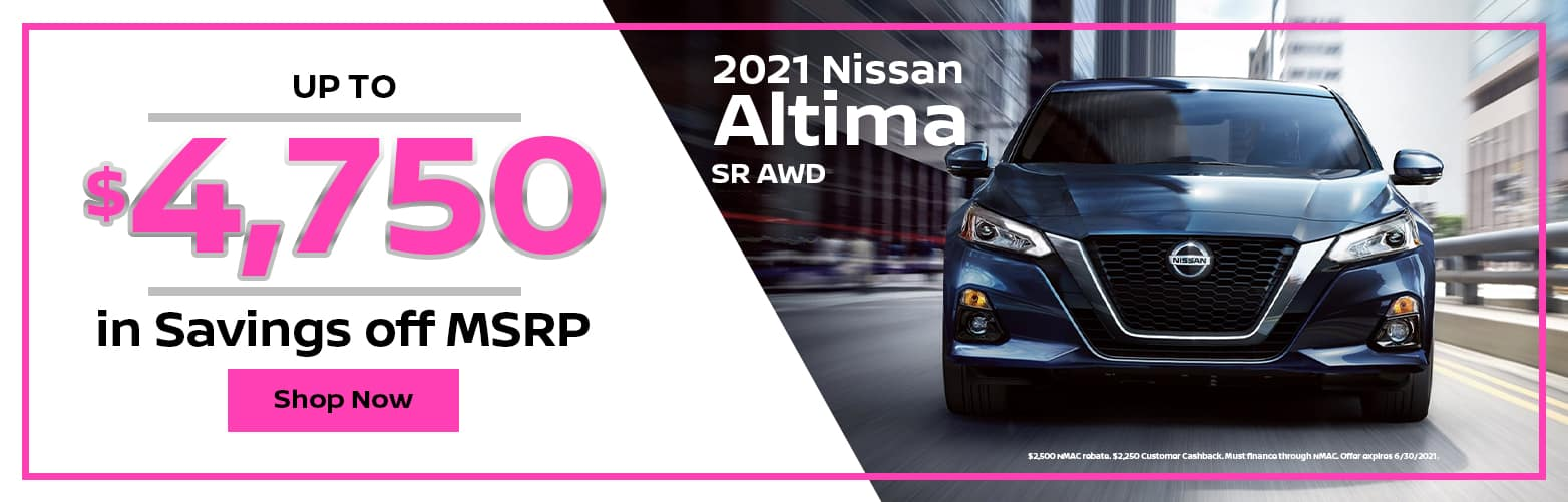 2021 Nissan Altima Special Offer from Dave Smith Nissan in Spokane, WA
