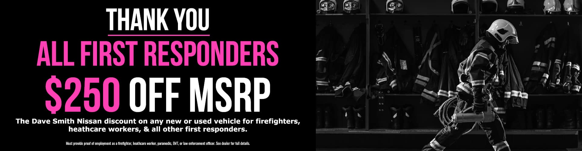 $250 OFF MSRP for First Responders