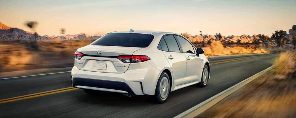 2020 Toyota Corolla driving fast