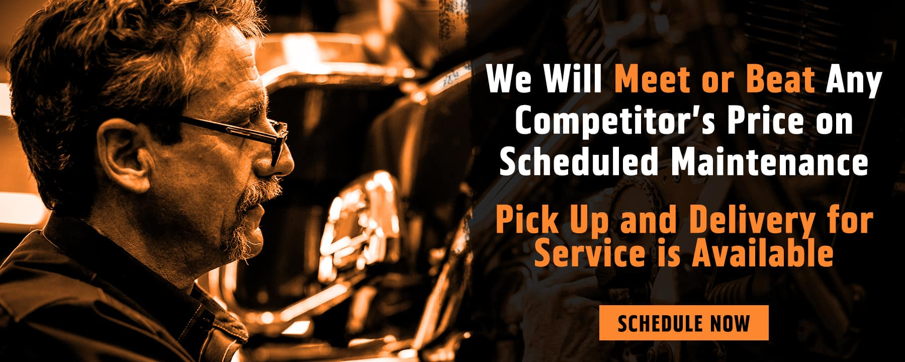 We Will Meet or Beat Any Competitor's Price on Scheduled Maintenance!