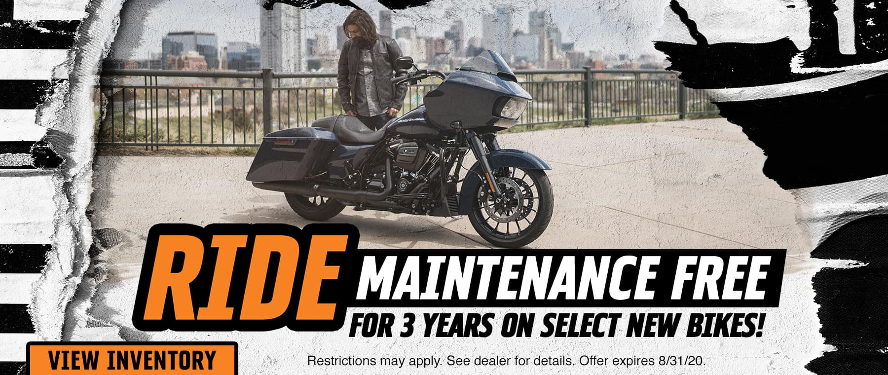 Ride Maintenance Free For 3 Years on Select New Bikes!