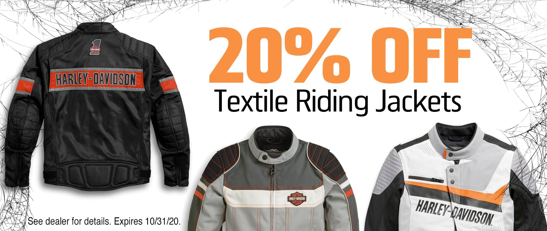 20% OFF Textile Riding Jackets at Fort Bragg Harley-Davidson
