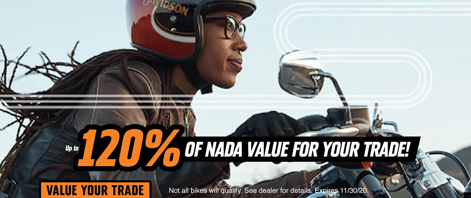 Up to 120% of NADA Value for your trade!