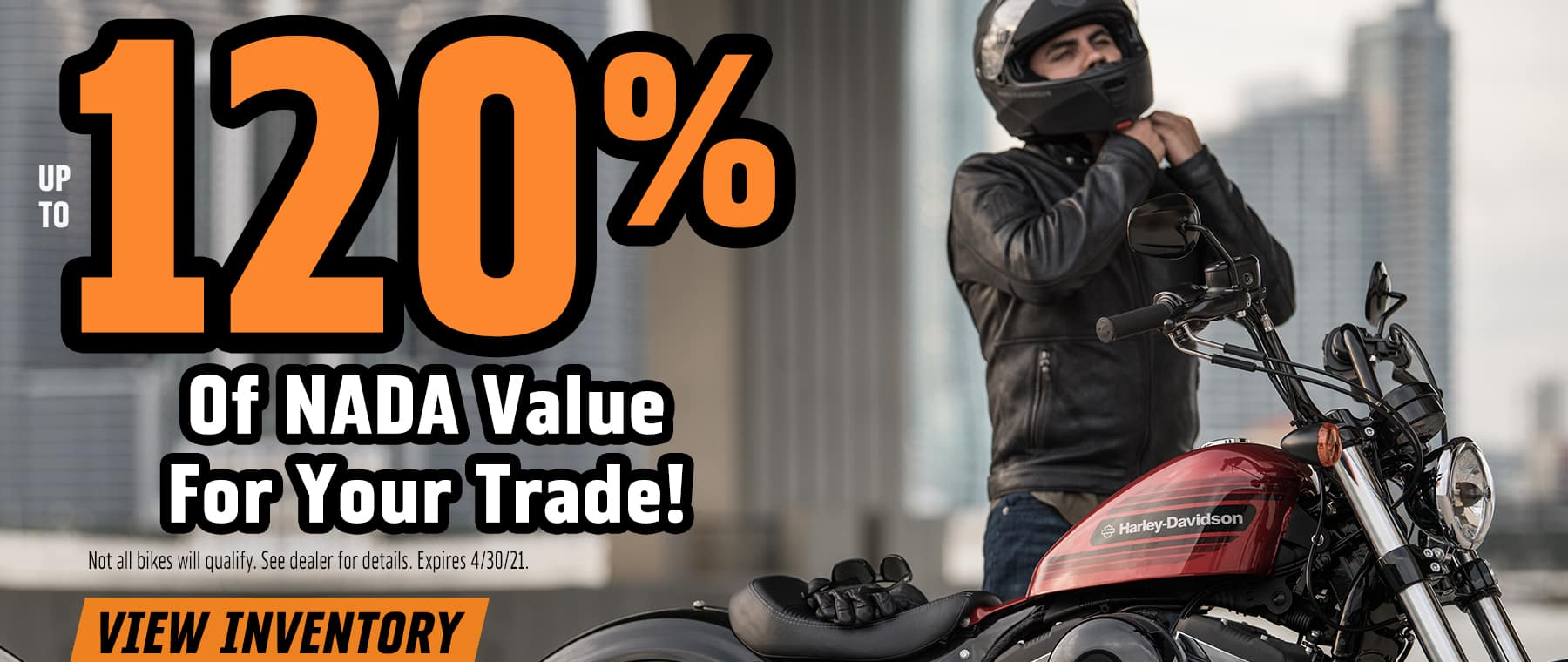 up to 120% of NADA value for your trade