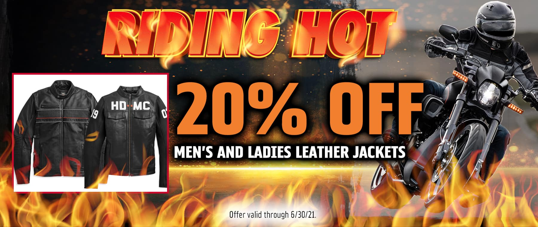 20% OFF MENS AND LADIES LEATHER JACKETS