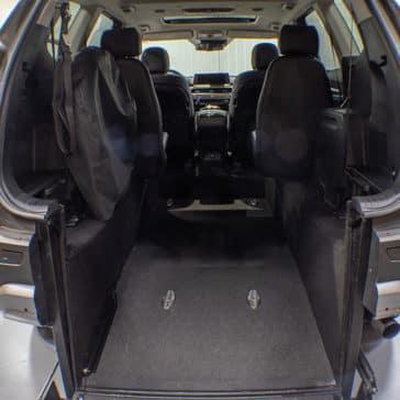 Interior Kia Telluride Wheelchair Accessible Rear Entry Ramp