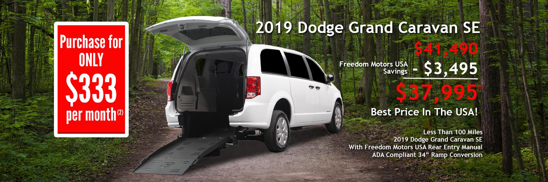 On Sale Rear Entry Dodge Caravan 2019
