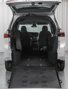 "Toyota Sienna with rear-entry Superwide 48"" ramp"