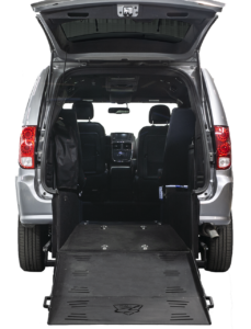 "Dodge Grand Caravan With Superwide 40"" Rear Manual Ramp"