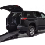 Black Chevy Traverse Rear Entry