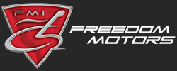 Freedom Motors USA Logo - black background