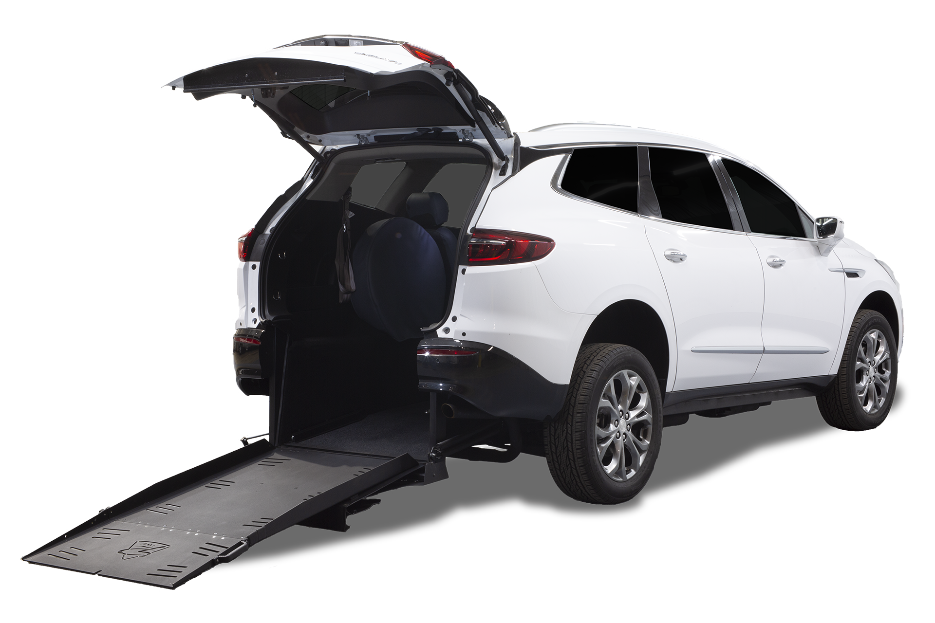 White Buick Enclave rear entry
