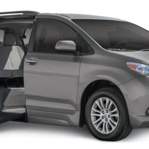 side entry toyota sienna with wheelchair accessible ramp