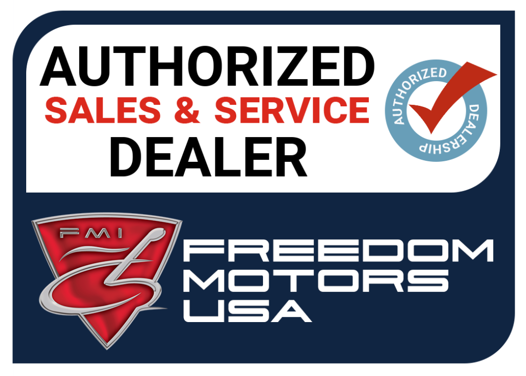 Badge - Authorized Sales & Service Dealer For Freedom Motors USA