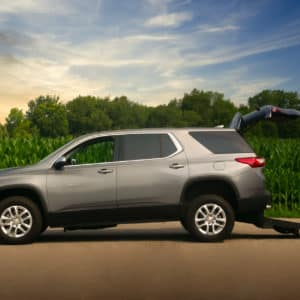 Wheelchair Accessible Chevrolet Traverse Profile View