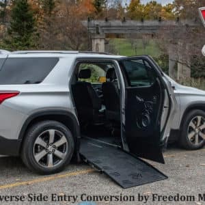 wheelchair accessible side entry silver traverse