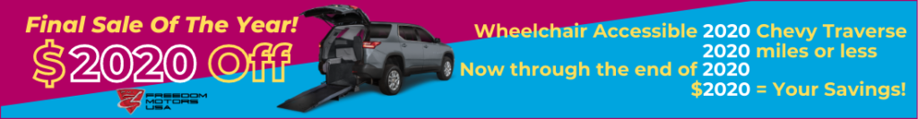 On Sale Accessible Chevy Traverse SUV