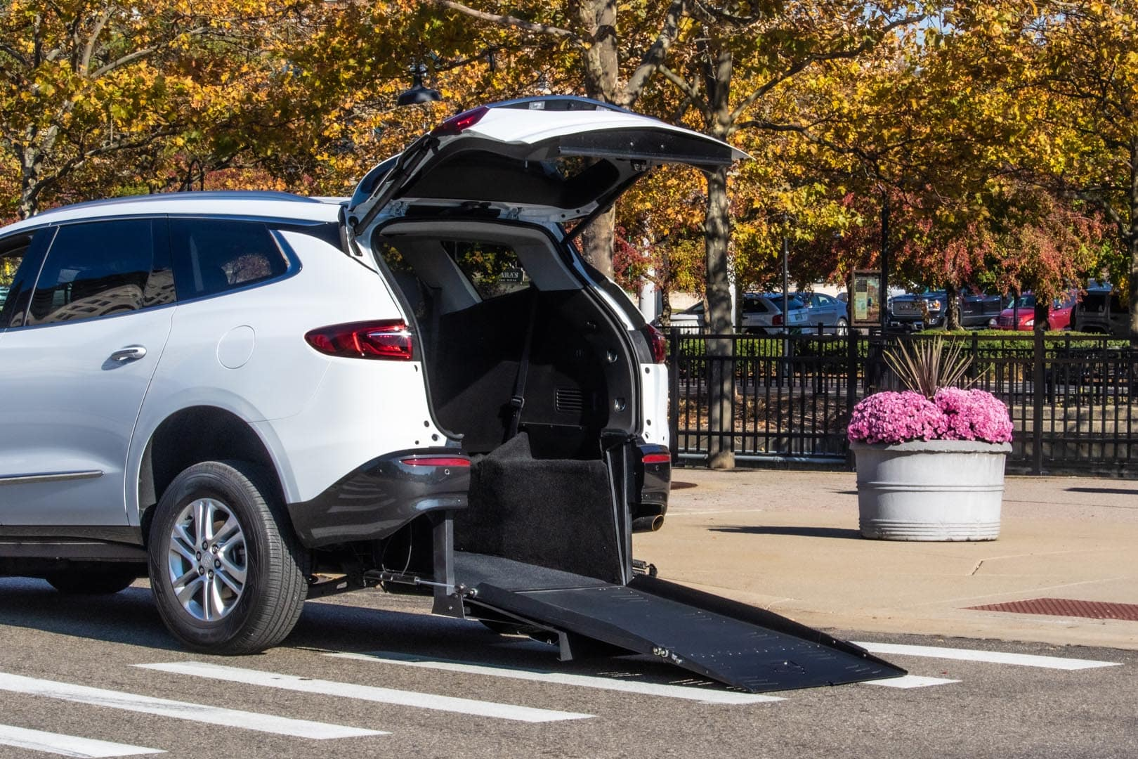 Rear Entry White Buick Enclave Wheelchair Vehicle