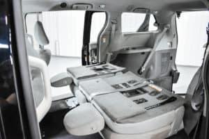 60-40 Flip and Fold OEM Seats fold down like normal.