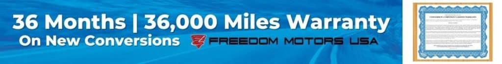 Freedom Motors USA Conversion Warranty