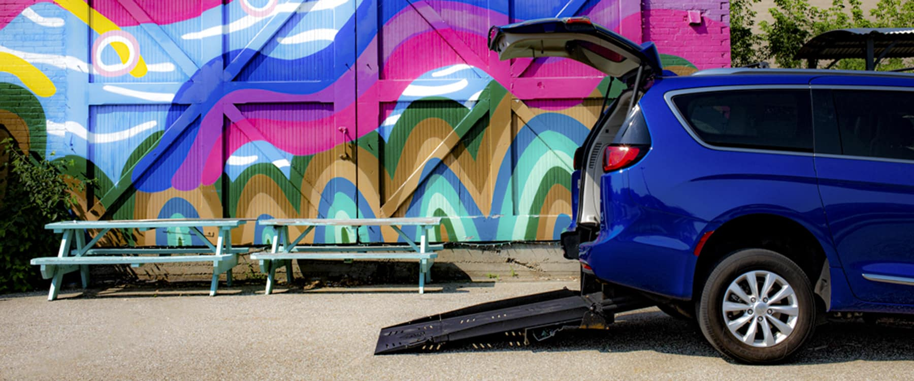 Wheelchair Chrysler Pacifica With Mural in Battle Creek