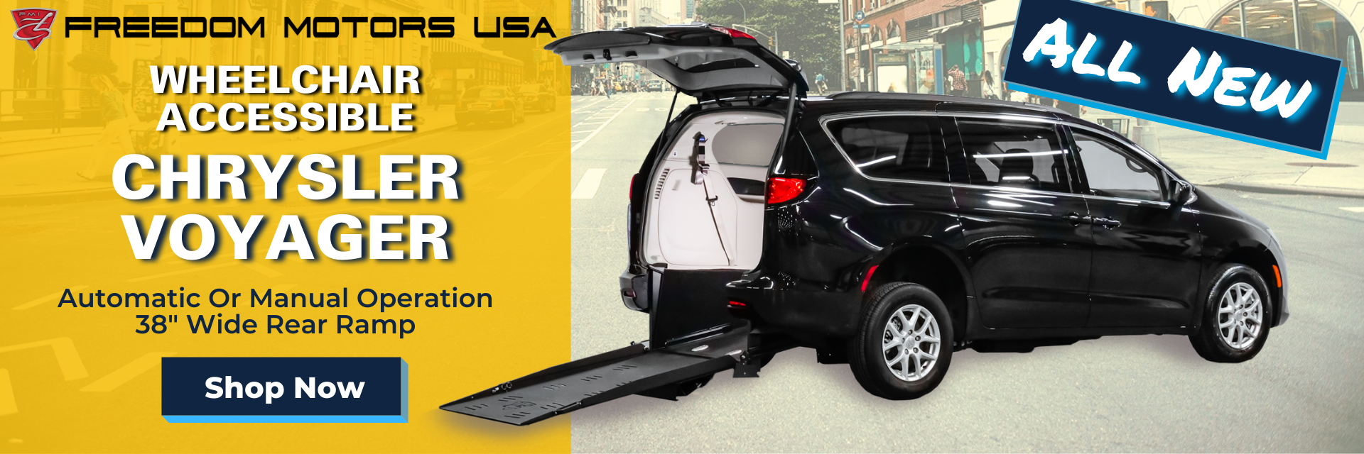 All New Chrysler Voyager Wheelchair Accessible Vehicle